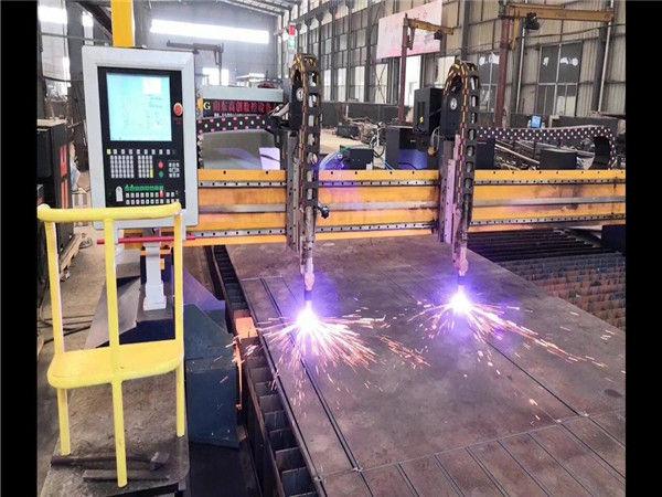 Dubbele aandrijving CNC-plasmasnijmachine H-balk productielijn Hypertherm CNC-systeem
