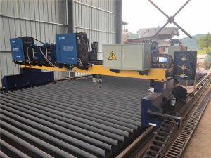 dubbele aandrijving cnc plasma snijmachine snijden massief staal / h balk productielijn