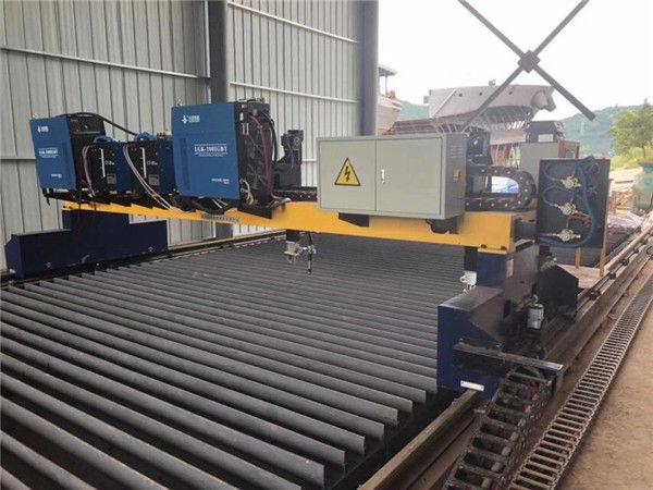 Dubbele aandrijving CNC-plasmasnijmachine voor het snijden van massief stalen H-balk productielijn