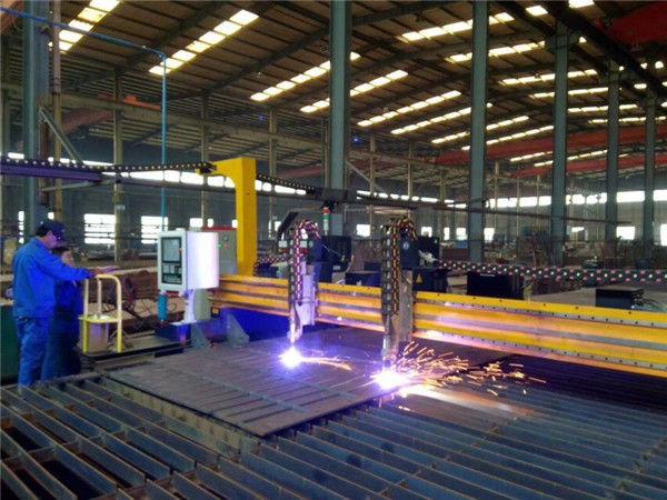 Brugplaat CNC plasma afschuining 45 graden snijmachine